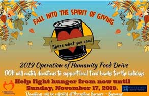 2019 Operation of Humanity Food Drive